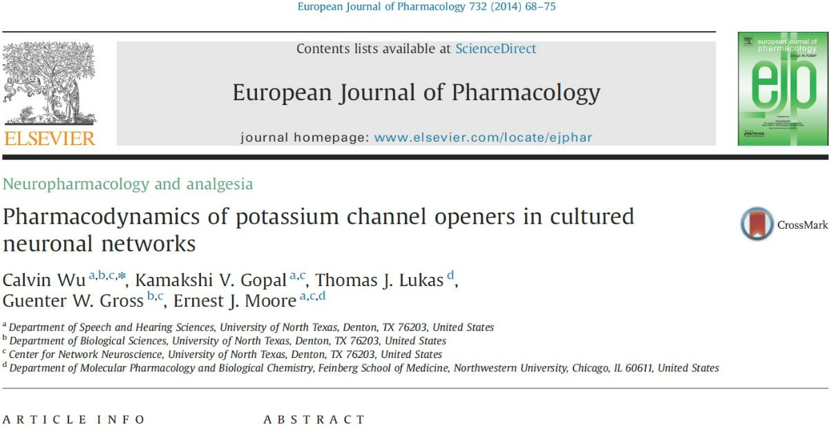 Pharmacodynamics Of Potassium Channel Openers In Cultured Neuronal Networks